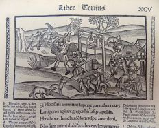 Grüninger Master - Woodcut; Virgil's Georgics Mythology: Husbandry, Agriculture, Well - 1515