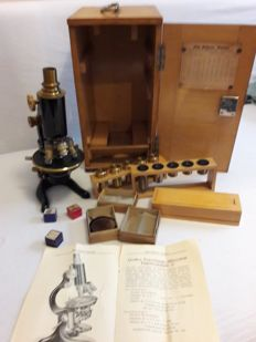 Antique microscope by Otto Seibert Wetzlar, early 20th century