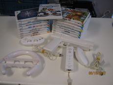 Wii lot: 17 games , a classic controller , wireless controller , nunchuk and more. Games like Mario Kart and more