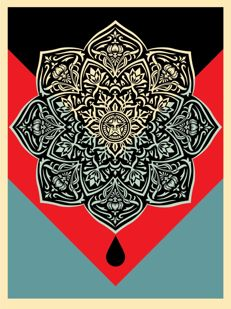Shepard Fairey (OBEY) - Blood & Oil Mandala (Oil Drop)