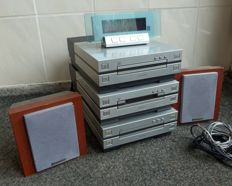 Pioneer XC-L7 - Stereo CD-receiver, MJ-L7- mini-disk player and CT-L7 tape recorder, speakers