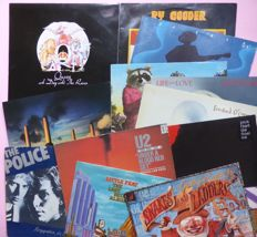 "Lot of 12 classic 70's, 80's albums; including Pink Floyd (2) Animals on brown vinyl, The Police (2x10""), Queen,  J.J. Cale (2), U2, Pink Floyd etc."