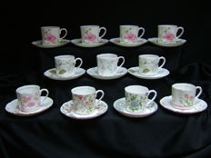 11 kop en schotels - Balmoral Castle - Bone China