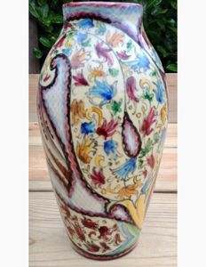 Stunning Italian highly glazed vase - Remo Franceschini