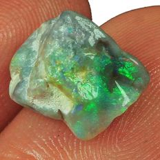 Black Lightning Ridge Opal Facet Rough Specimen 100% Natural - 7.20 Ct (3)