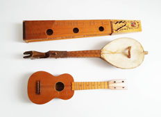 LOT: 3 native Instruments - Hummel - east european fiddle -  Ukulele