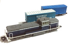 Tomix N - 92404 - 2x Goods Wagons with Diesel Locomotive Type DE10 from the JR