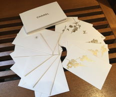 Set of Chanel letters and envelopes.