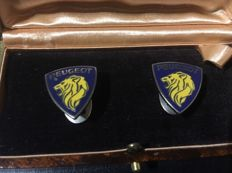 Peugeot - Collection Automobile Peugeot Le Lion cufflinks - circa 1950