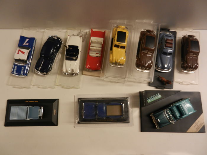 Rex Toys / Vitesse / Ixo / Eligor - Echelle 1/43 - Lot of 11 models: Chrysler, Cadillac, Jeep, Chevrolet and Ford