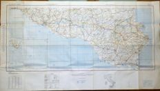 Genuine original WWII US 1943 Army Map Service - ITALY Road Map