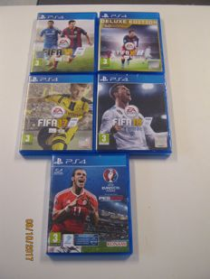 5 ps4: Fifa games like 2018 (new sealed game+extra codes) fifa17,16,15+ euro 16