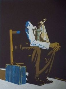 Bruno Vekemans - Man with suitcase