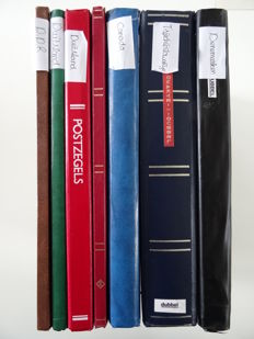 Denmark, Germany, France, Canada and Czechoslovakia - batch in seven stock books