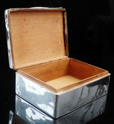 Silver Cigarette Box of Masonic Interest (Arden Lodge), Birmingham 1922, Docker & Burn Ltd