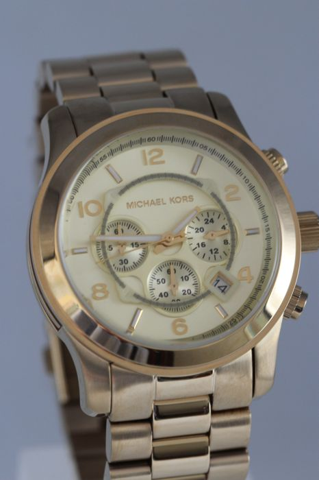 Michael Kors MK 8077 chronograph - men's wristwatch - never used