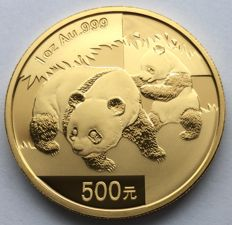 China – 500 Yuan 2008 'Panda' – 1 oz gold