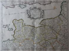 France, Normandy; Nicolas Sanson - Duche et Gouvernement de Normandie - 1650