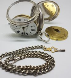 A. Yewdall English Lever silver open face pocket watch 1898 chester