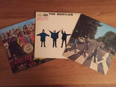 "3 LP albums  lot """"help! "", ""sgt.peppers"" and ""abbey road"""