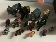 Outstanding collection of elephants from all over the world exclusively handmade in different materials