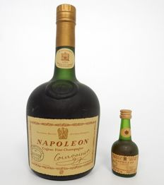 Courvoisier Napoleon 70cl Cognac Excellent Condition OCB 1970's plus miniature