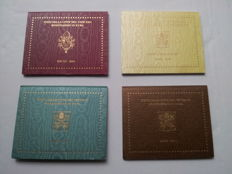 Vatican - coin sets 2008/2011 Benedict XVI (4 pieces)