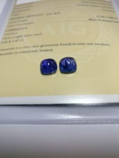 Couple Tanzanite Blue 11.94 ct   No Reserve Price