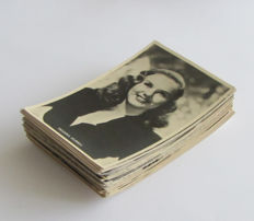 Lot consisting of 68 Deanna Durbin postcards