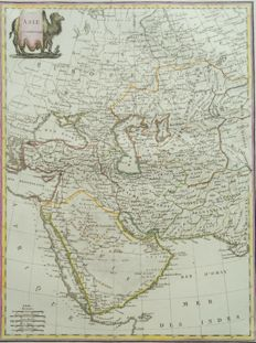 Middle East, Arabia, Iran, Russia; Lapie / Malte Brun - Asie Occidentale - 1812