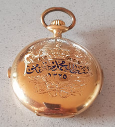 17. Constantaras Freres Constantinopel - 18kt gold double casing pocket watch - minute repeater - chronograph - circa 1900