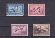United States 1934/40 - Hunting permit stamps - a selection
