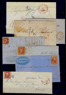 Netherlands 1841/1897 - Lot of 16 letters