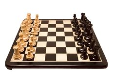 Original Staunton 7 London chess with ebony board