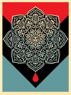Shepard Fairey (OBEY) - Blood & Oil Mandala (Bloodd Drop)