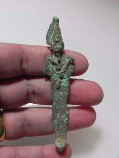 Egyptian bronze Osiris - 9.8 cm