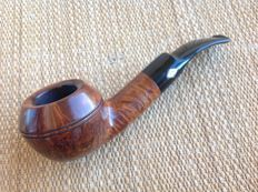 "Brebbia ""Italia"", half bent Bulldog pipe, very nice grained briar, have a look!!!"