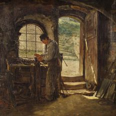Theodor Kleehaas (1854-1929) - In the workshop