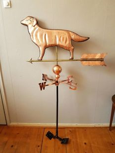 Weather vane - the Netherlands - red copper - mid-20th century