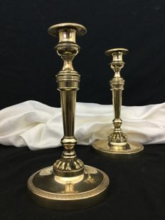 Pair of candlesticks, Restoration period in bonze mid 19th century, France