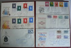 The Netherlands 1952 - Selection of First Day Covers and special covers.