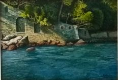 Marcello Avolio (Two works) - (1890 - 1975) -  Scogliera - Costa  sorrentina