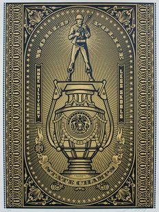 Shepard Fairey (OBEY) - World Police (Black/Gold)