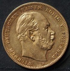Germany, Prussia - 10 Mark 1873 A - gold
