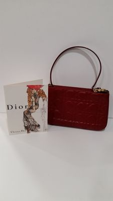 Dior canvas clutch