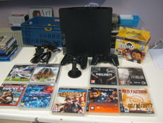 Ps3 - 240GB type plat including 2 controllers , 9 games and headset.