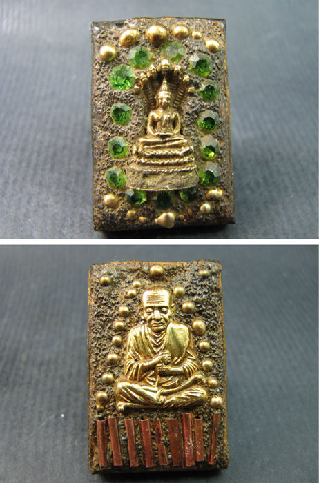 Two Luang Phor Toh Buddha amulets - Thailand - circa 1960's.