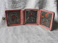 Orthodox icon - Triptych - silver - Russia - second half 20th century