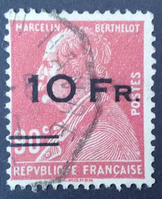 France 1928 - Airmail,  Berthelot 10 Francs on 90 c red, signed Miro with certificate - Yvert n° 3.
