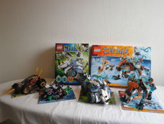 Ninjago + Chima  - 70722 + 70502 + 70131 + 70143  - Overborg Aanval + Cole s Cole s Grondboor + Rogon Rock Flinger and more
